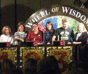 The teachers play Wheel of Wisdom
